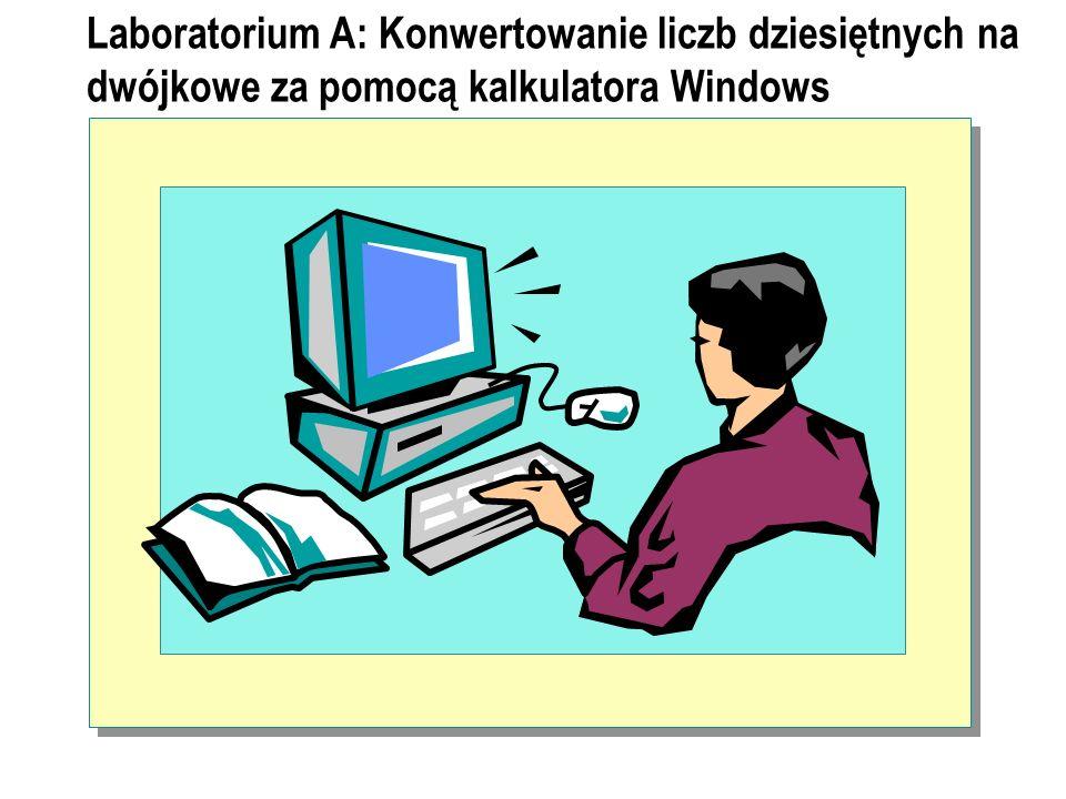 Laboratorium A: Konwertowanie liczb dziesiętnych na dwójkowe za pomocą kalkulatora Windows