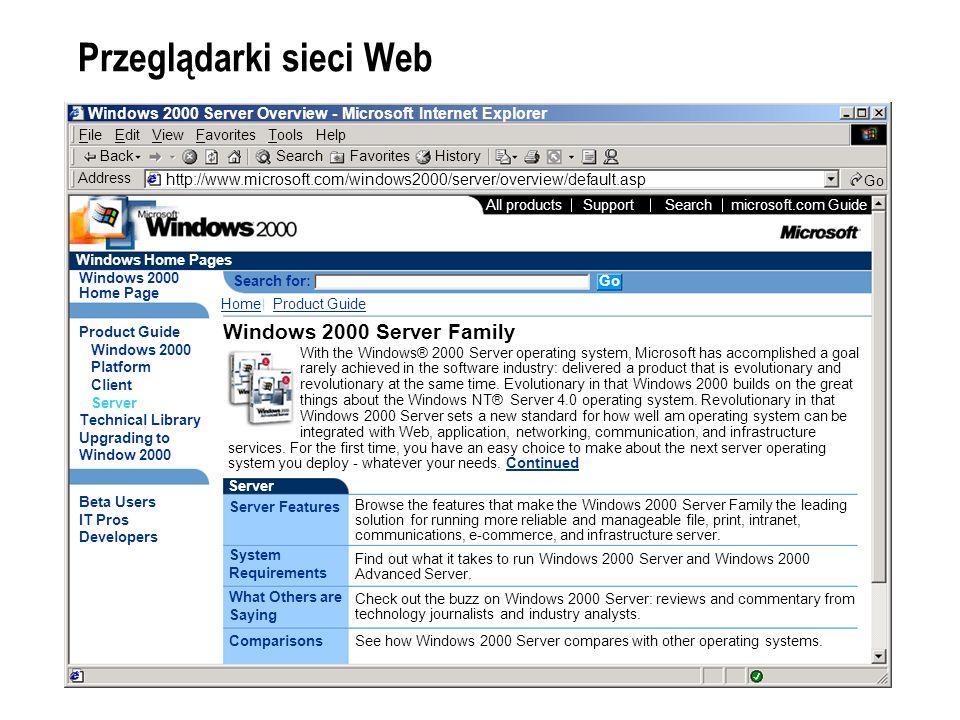 Przeglądarki sieci Web