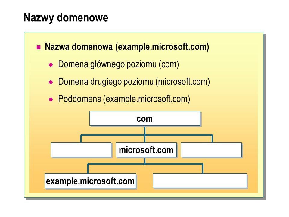 Nazwy domenowe Nazwa domenowa (example.microsoft.com)