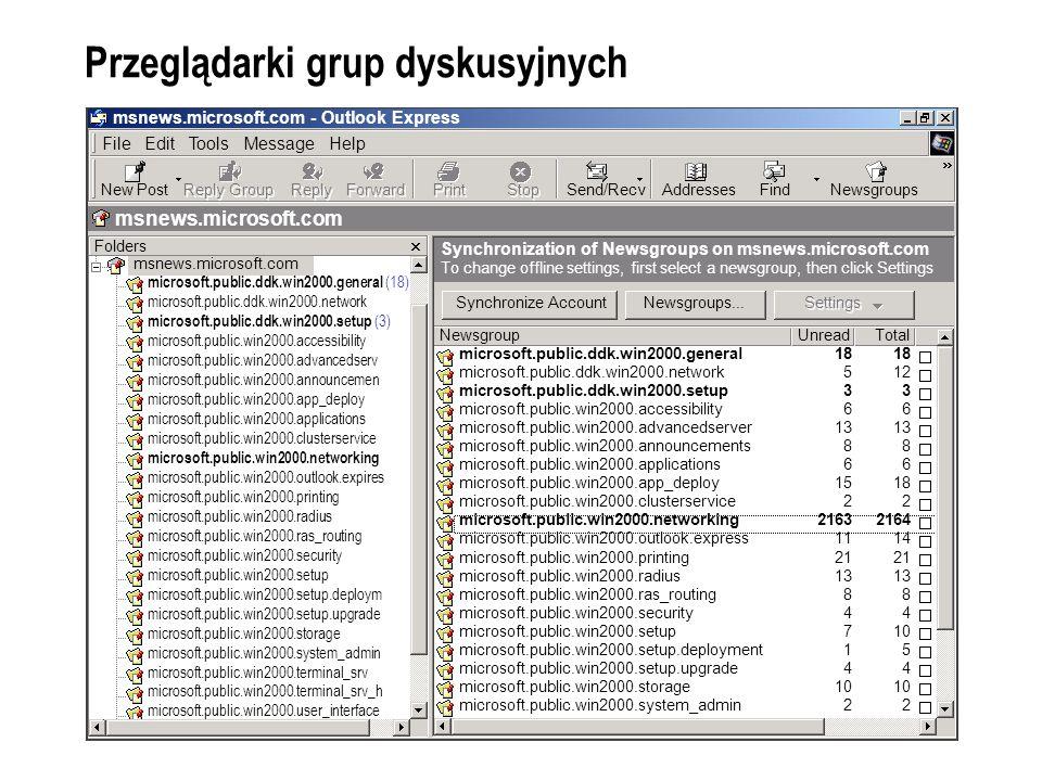 Przeglądarki grup dyskusyjnych