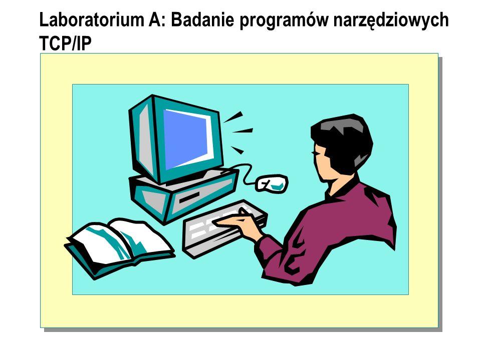 Laboratorium A: Badanie programów narzędziowych TCP/IP