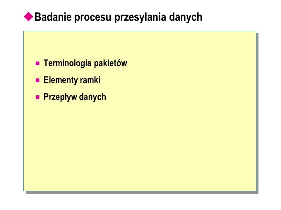 Badanie procesu przesyłania danych