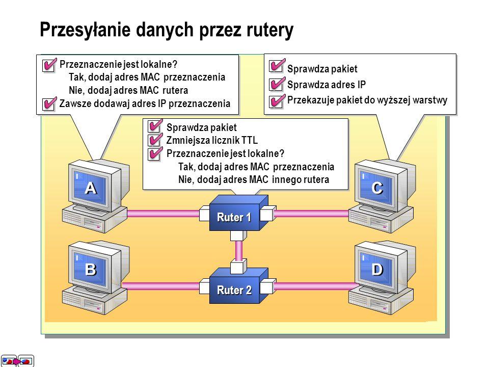 Przesyłanie danych przez rutery