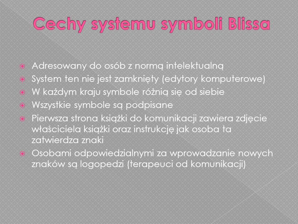 Cechy systemu symboli Blissa