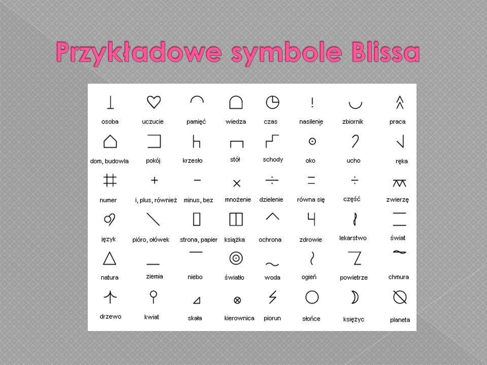 Przykładowe symbole Blissa