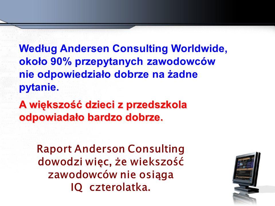 Według Andersen Consulting Worldwide, około 90% przepytanych zawodowców nie odpowiedziało dobrze na żadne pytanie.