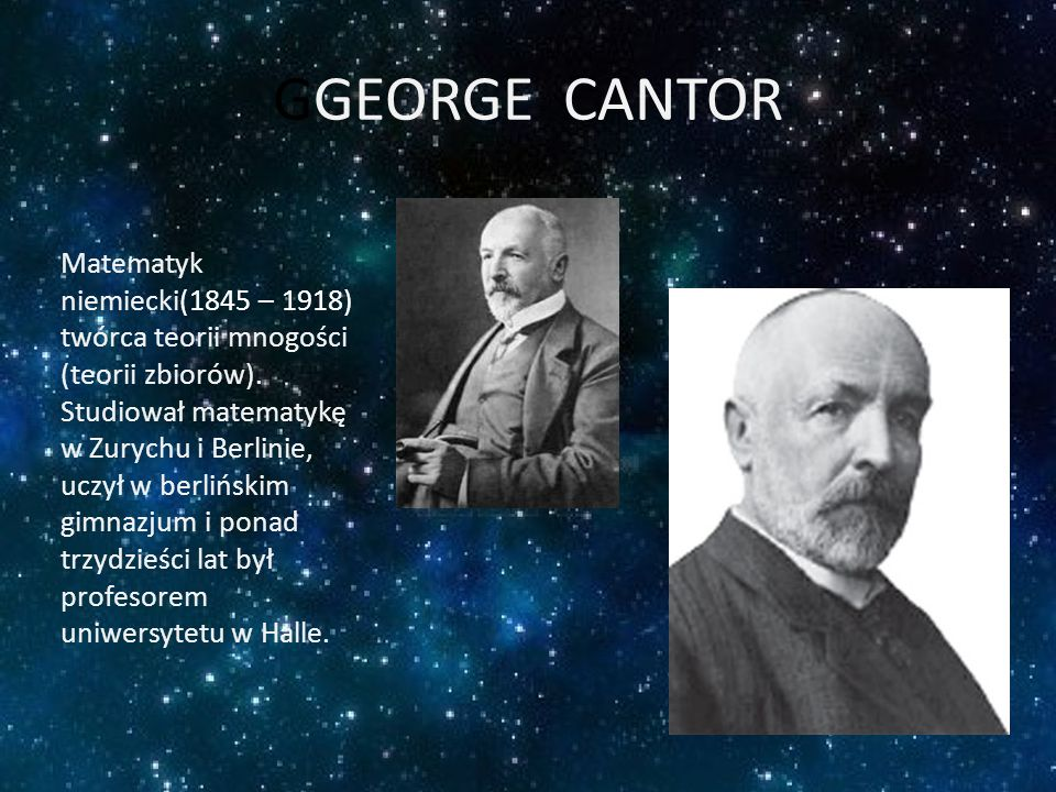 GGEORGE CANTOR