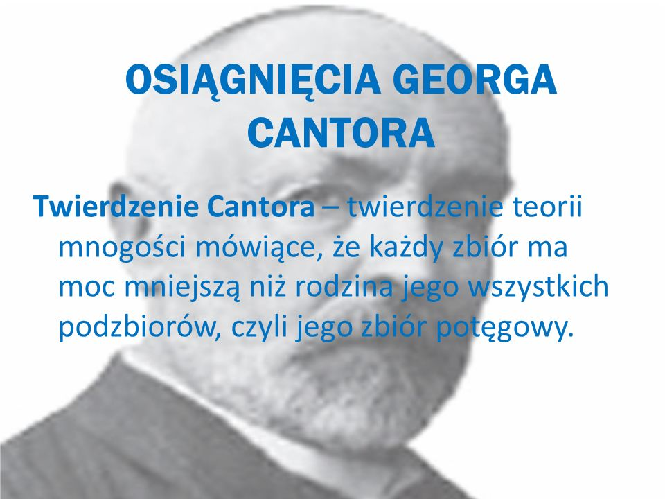 OSIĄGNIĘCIA GEORGA CANTORA