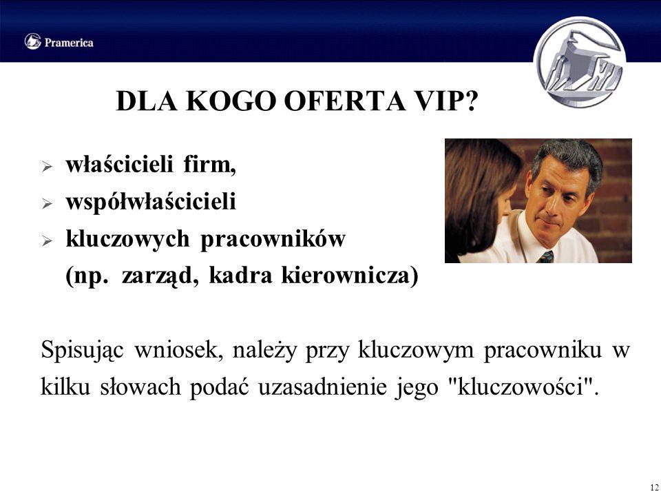 DLA KOGO OFERTA VIP właścicieli firm, współwłaścicieli