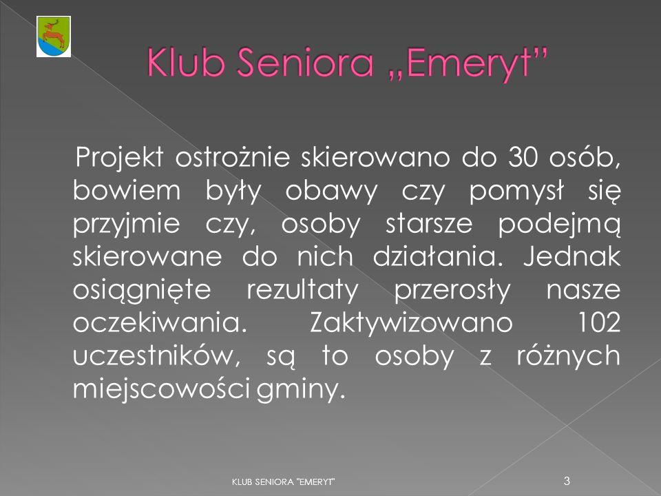 """Klub Seniora """"Emeryt"""