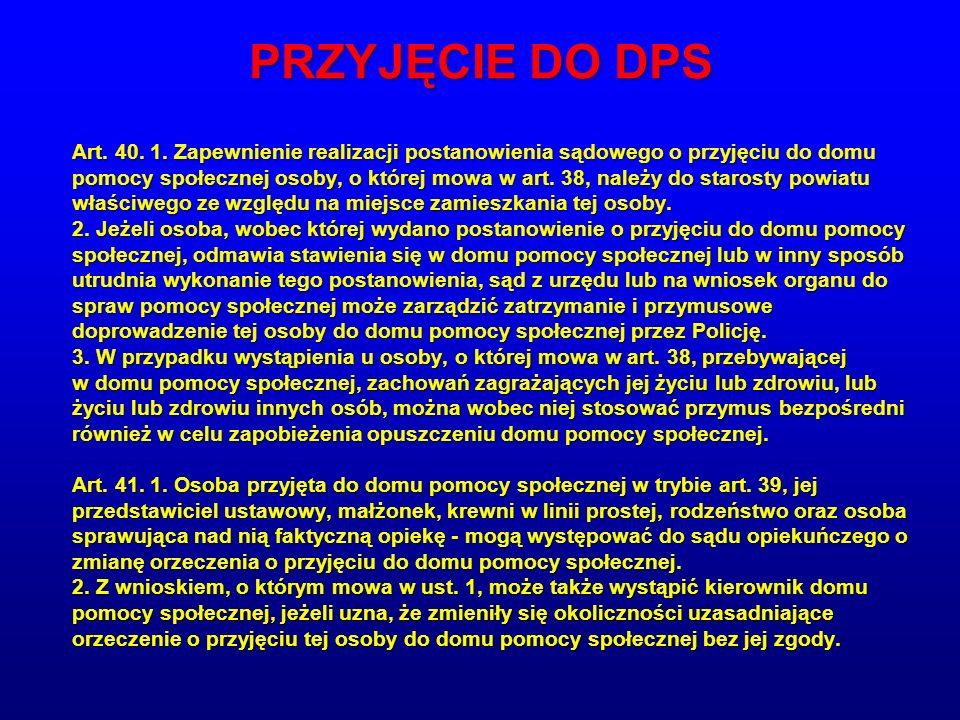 PRZYJĘCIE DO DPS