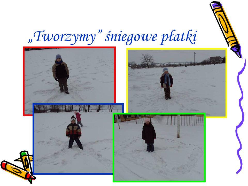 """""""Tworzymy śniegowe płatki"""