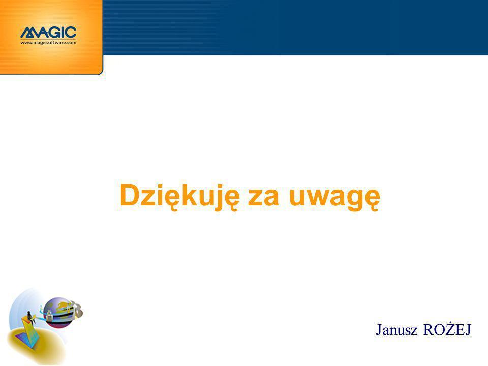 Dziękuję za uwagę Janusz ROŻEJ
