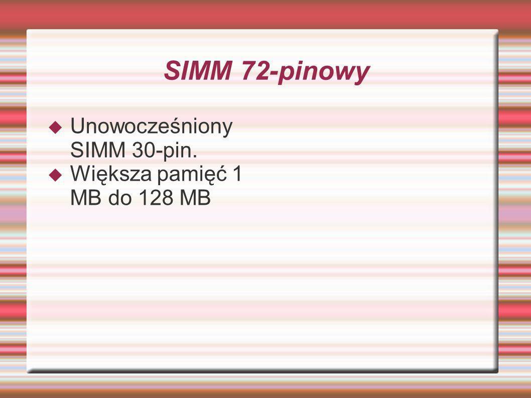 SIMM 72-pinowy Unowocześniony SIMM 30-pin.