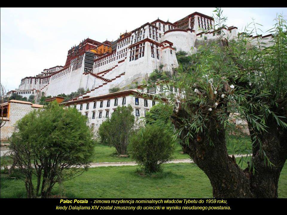 Pałac Potala - zimowa rezydencja nominalnych władców Tybetu do 1959 roku,