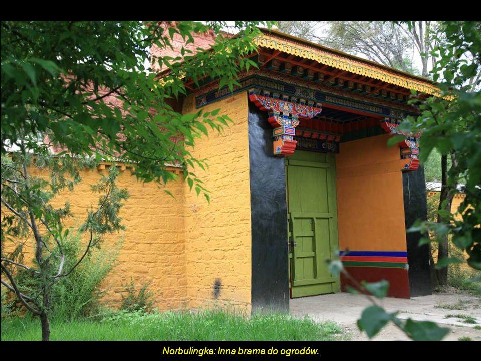 Norbulingka: Inna brama do ogrodów.
