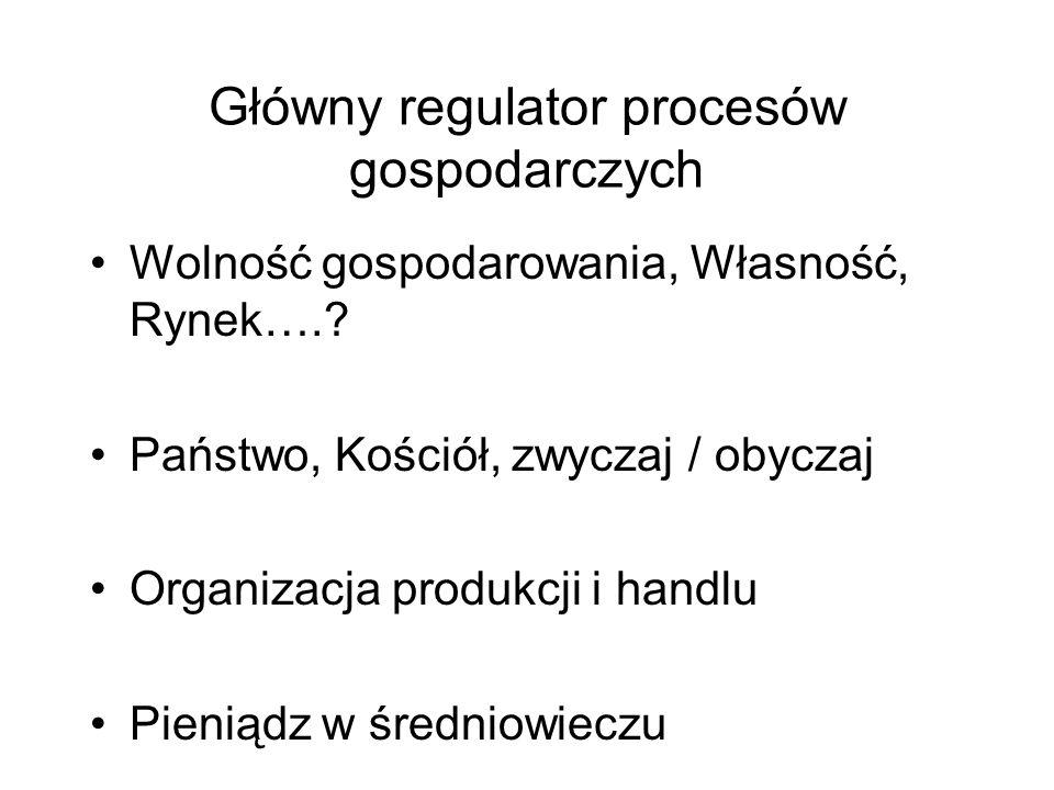 Główny regulator procesów gospodarczych