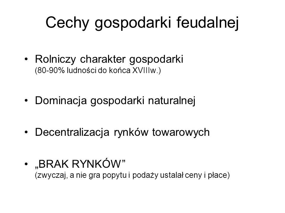 Cechy gospodarki feudalnej