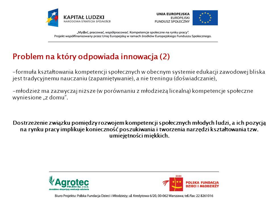 Problem na który odpowiada innowacja (2)