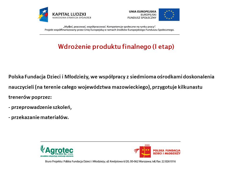 Wdrożenie produktu finalnego (I etap)