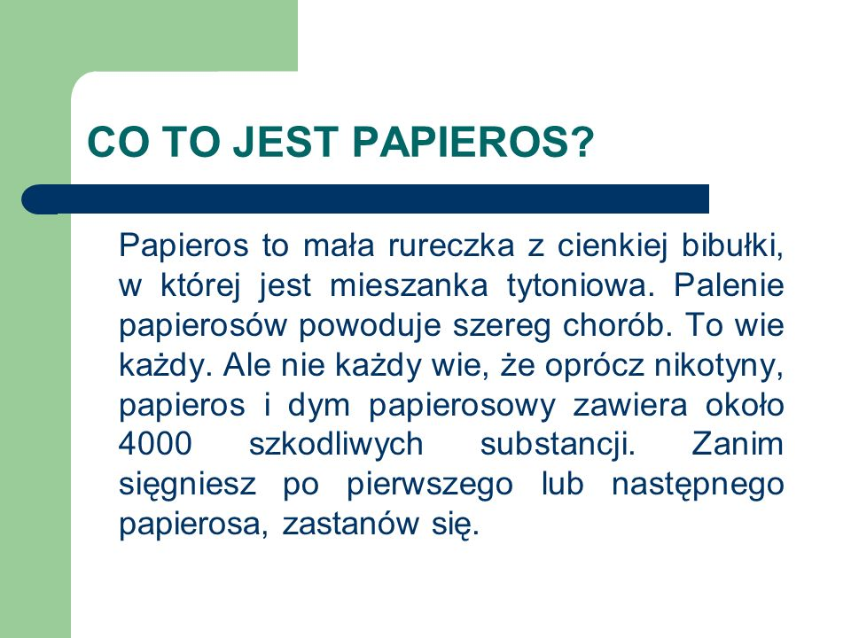 CO TO JEST PAPIEROS