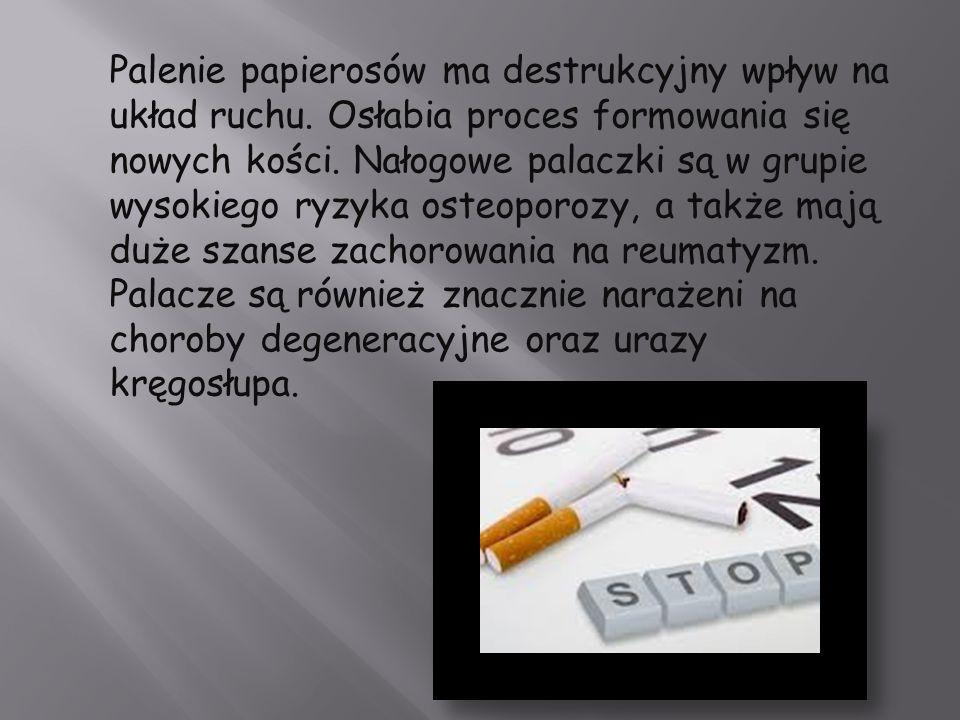 Palenie papierosów ma destrukcyjny wpływ na układ ruchu