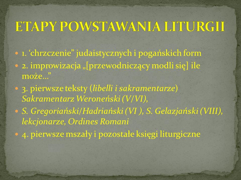 ETAPY POWSTAWANIA LITURGII