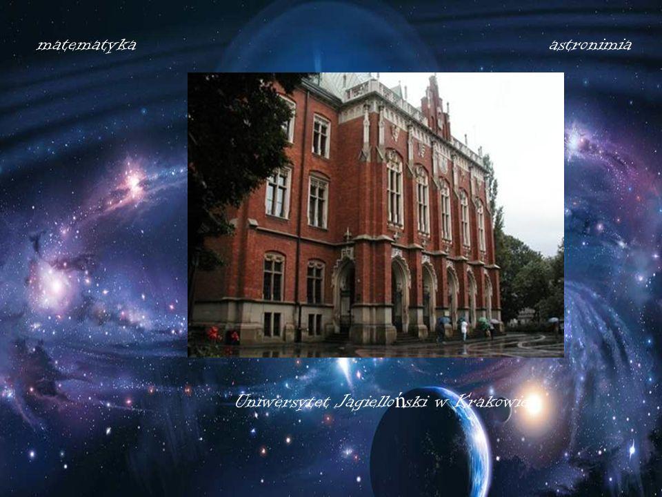 matematyka astronimia Uniwersytet Jagielloński w Krakowie