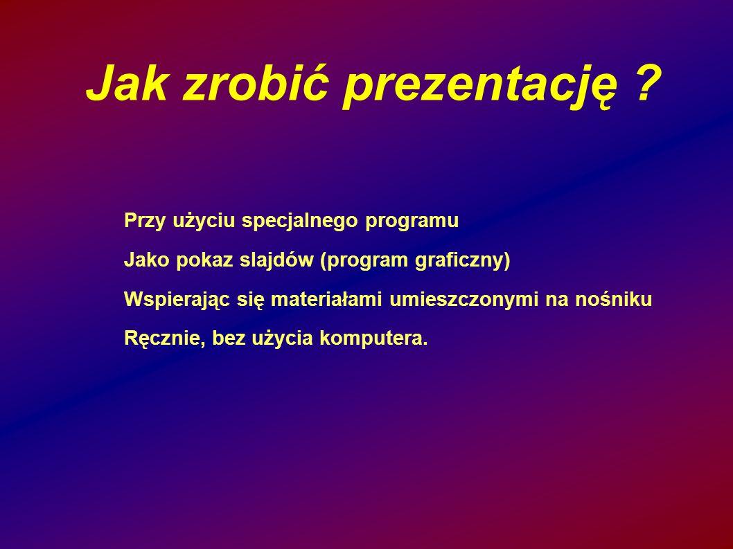 Jak zrobić prezentację
