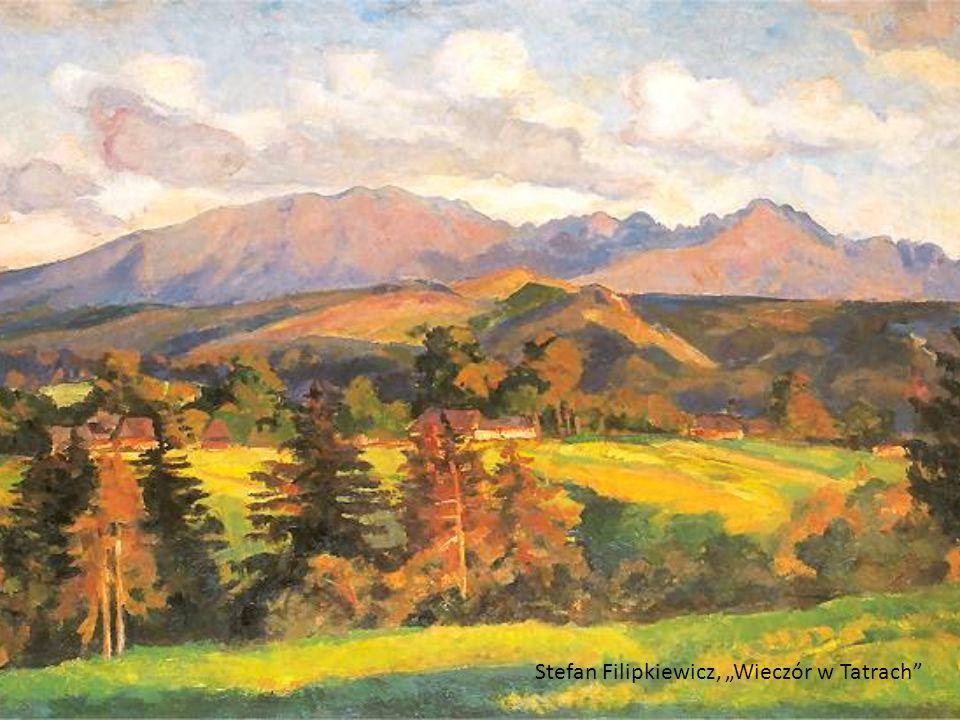 """Stefan Filipkiewicz, """"Wieczór w Tatrach"""