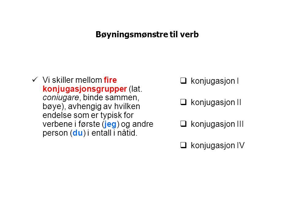 Bøyningsmønstre til verb