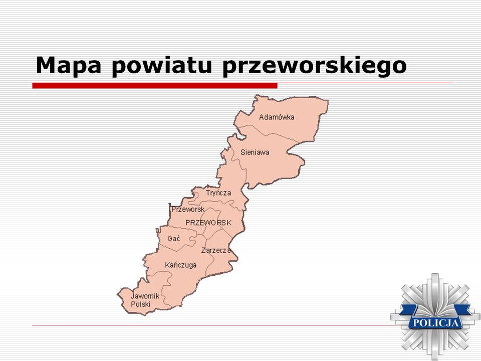Mapa powiatu przeworskiego