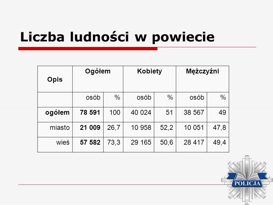 Liczba ludności w powiecie