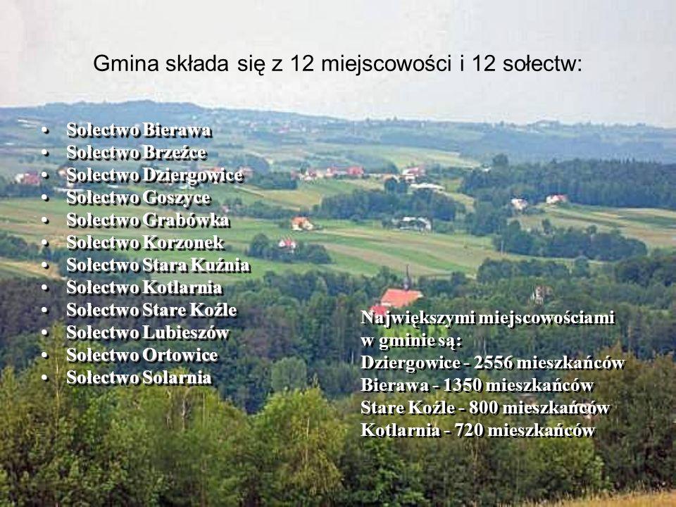 Gmina składa się z 12 miejscowości i 12 sołectw:
