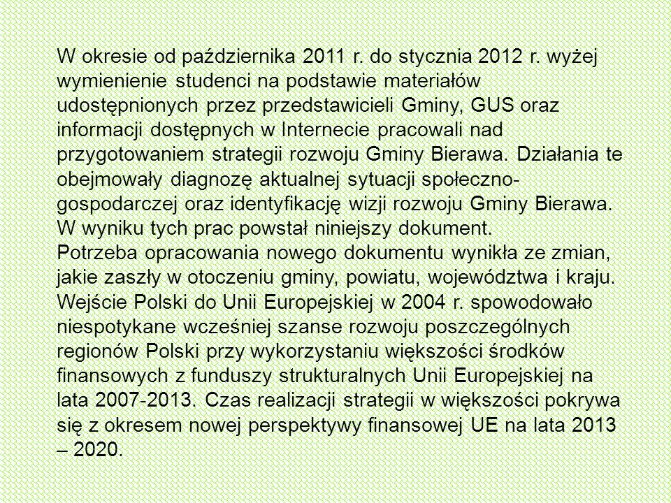 W okresie od października 2011 r. do stycznia 2012 r
