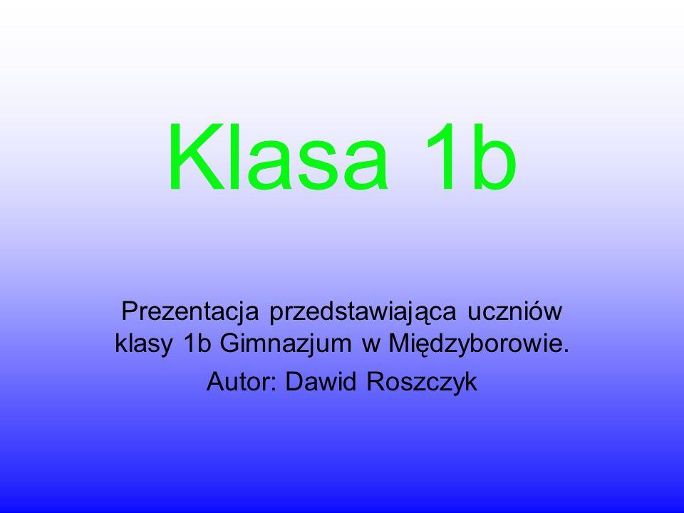 Klasa 1b Prezentacja przedstawiająca uczniów klasy 1b Gimnazjum w Międzyborowie.