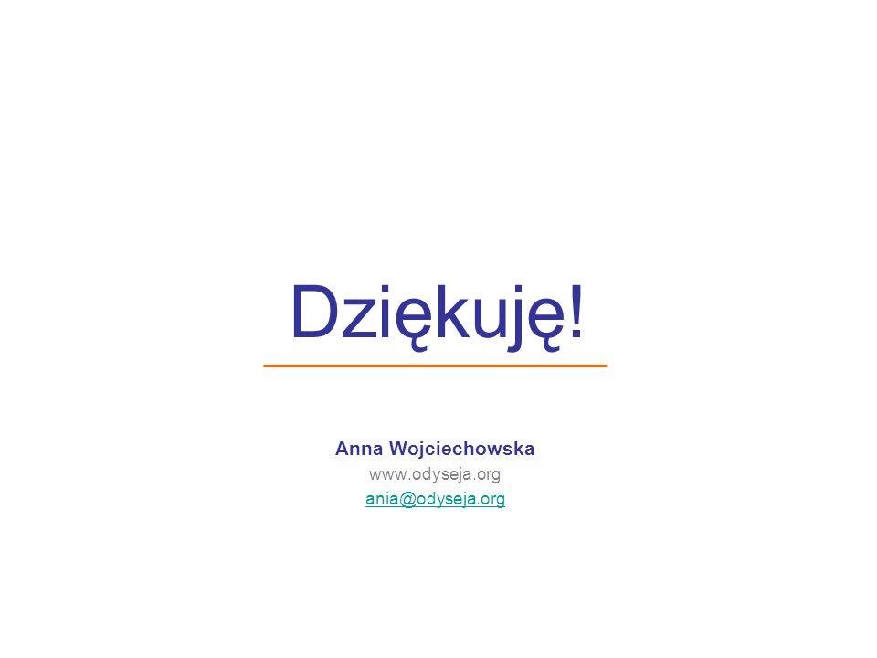 Anna Wojciechowska www.odyseja.org ania@odyseja.org