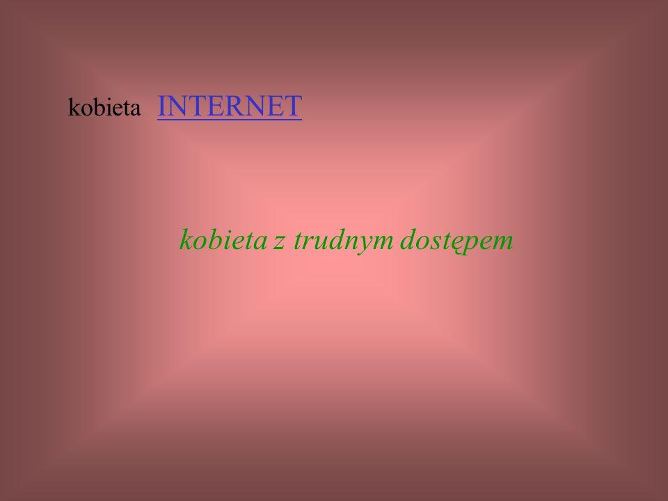 kobieta INTERNET kobieta z trudnym dostępem