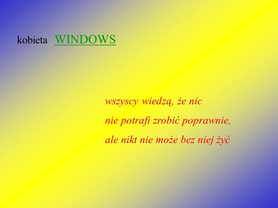 kobieta WINDOWS wszyscy wiedzą, że nic.