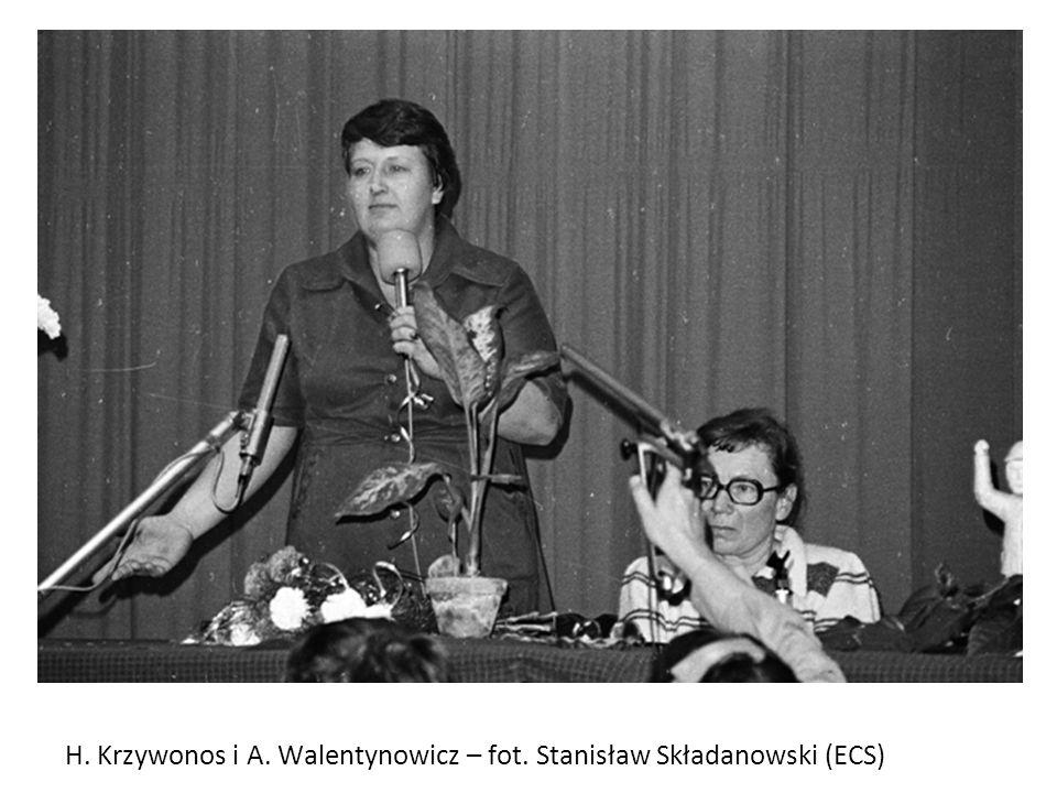 H. Krzywonos i A. Walentynowicz – fot. Stanisław Składanowski (ECS)