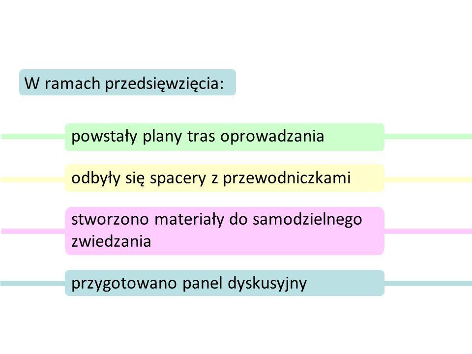 W ramach przedsięwzięcia: powstały plany tras oprowadzania