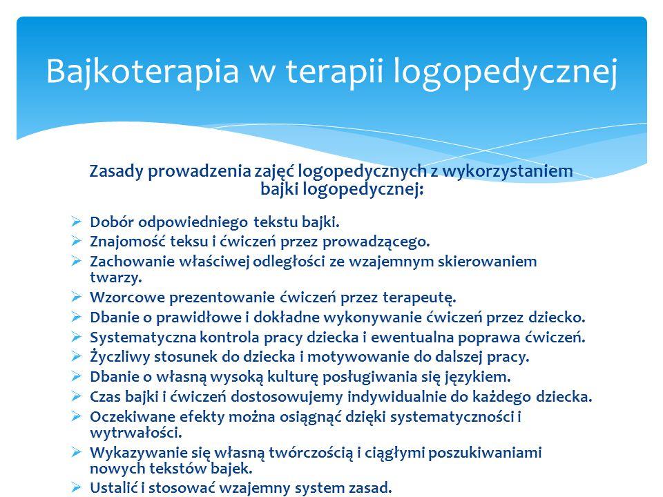 Bajkoterapia w terapii logopedycznej