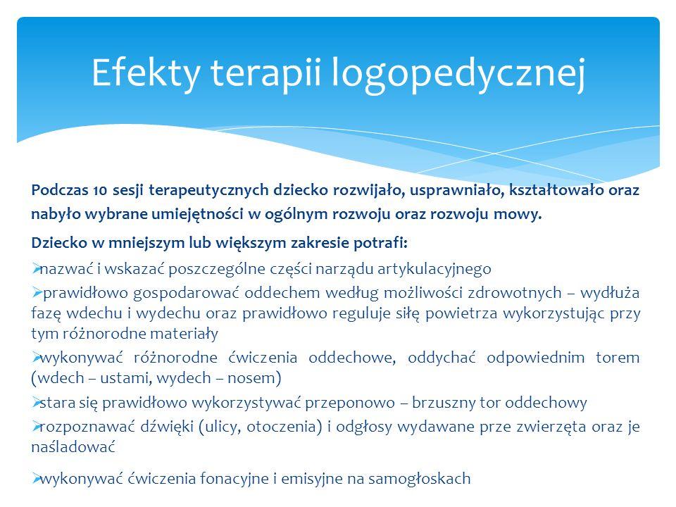 Efekty terapii logopedycznej
