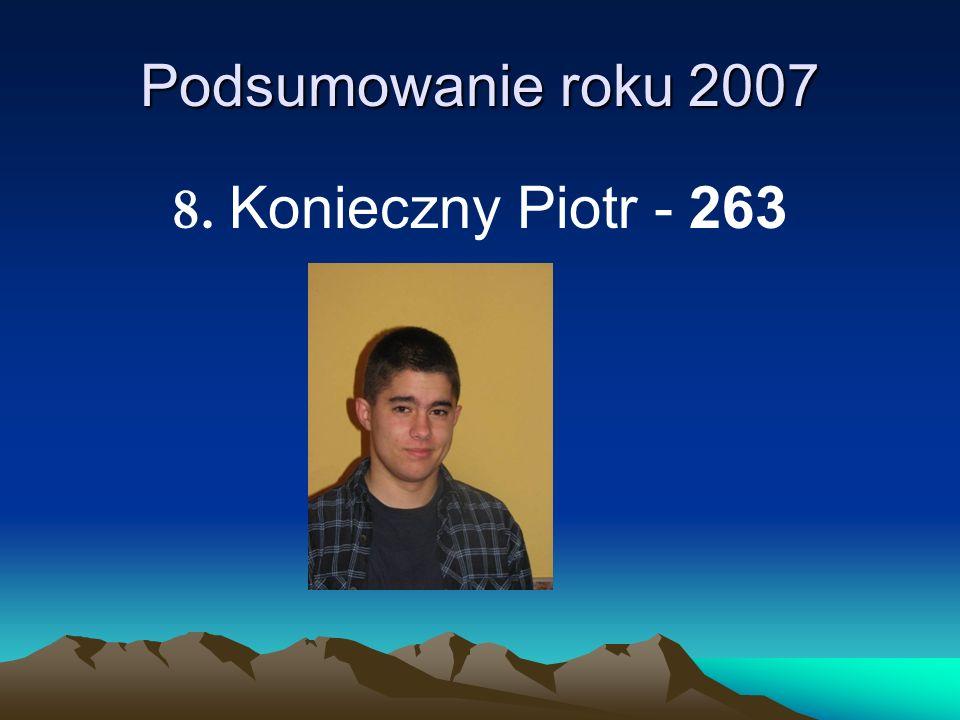 Podsumowanie roku 2007 8. Konieczny Piotr - 263