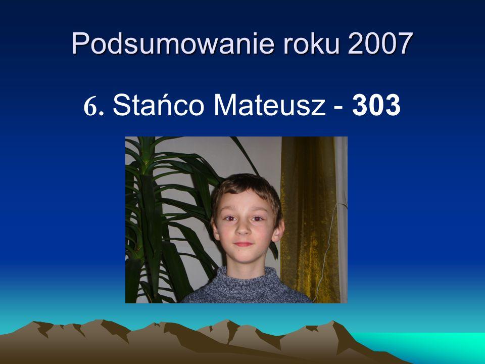 Podsumowanie roku 2007 6. Stańco Mateusz - 303