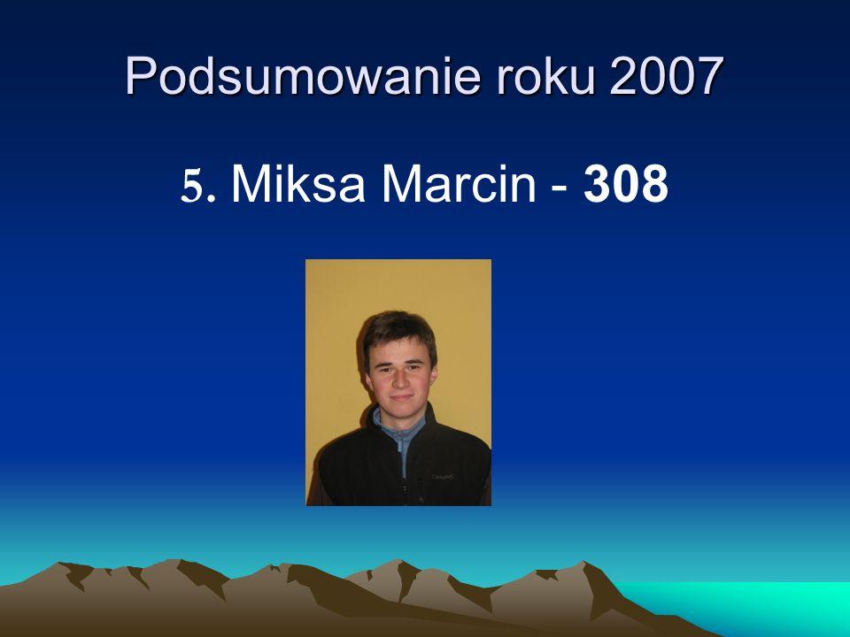 Podsumowanie roku 2007 5. Miksa Marcin - 308