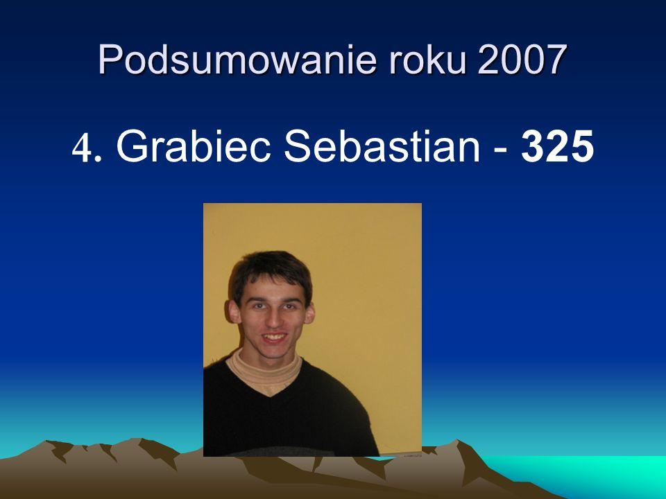 Podsumowanie roku 2007 4. Grabiec Sebastian - 325