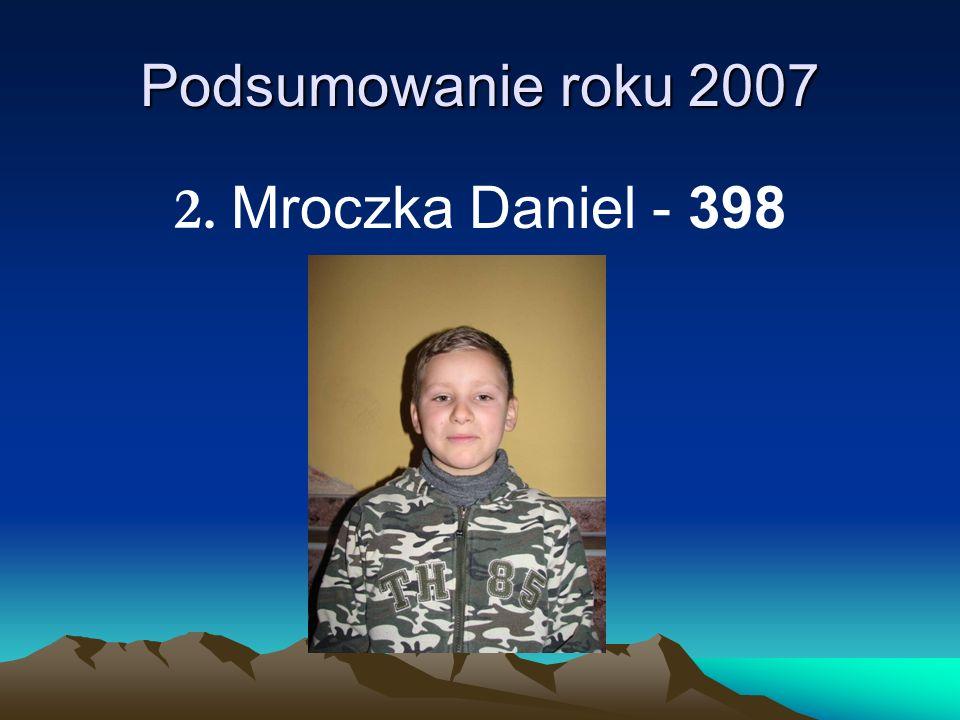 Podsumowanie roku 2007 2. Mroczka Daniel - 398