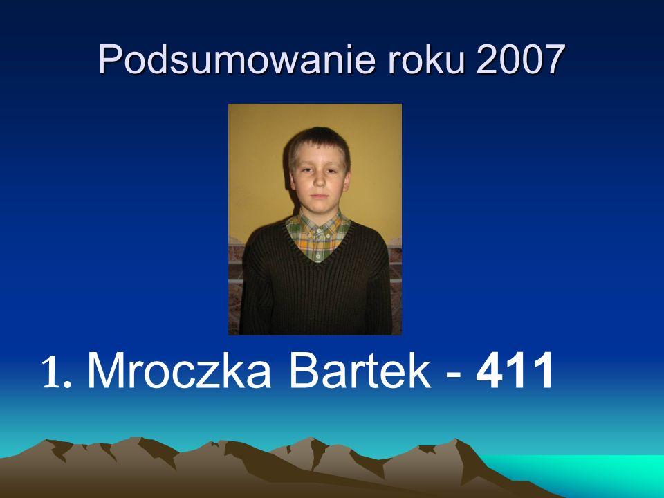 Podsumowanie roku 2007 1. Mroczka Bartek - 411