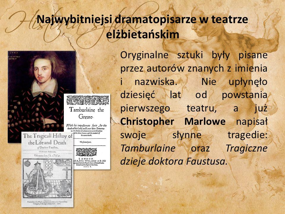 Najwybitniejsi dramatopisarze w teatrze elżbietańskim